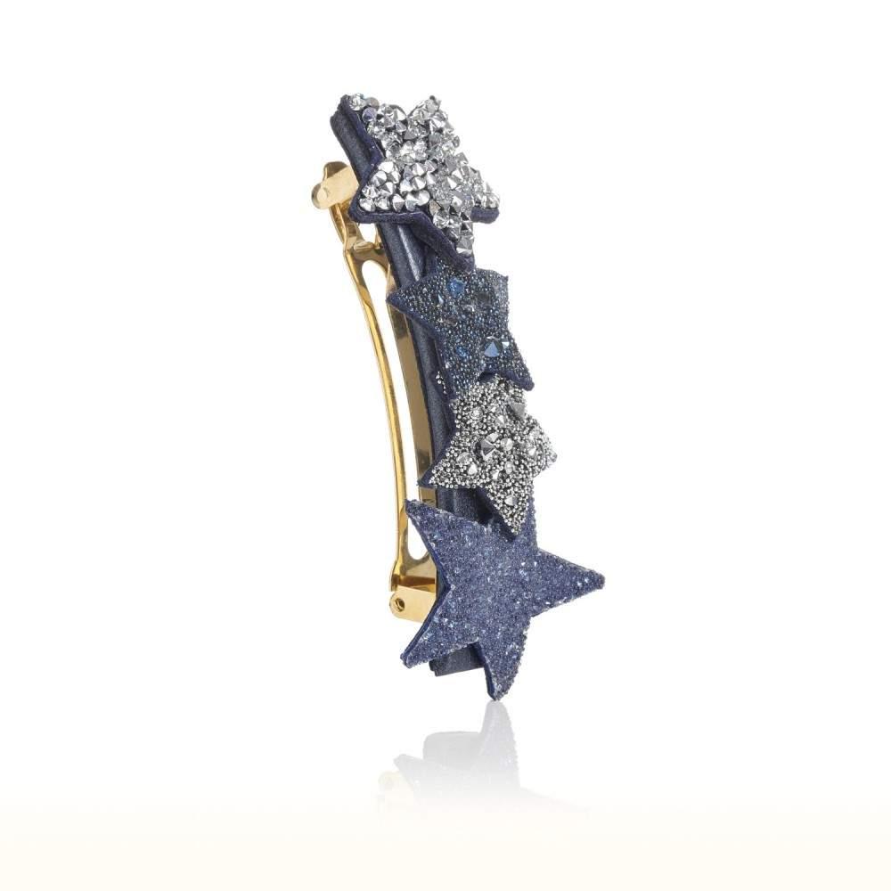 Barrette étoilée en cuir et cristaux Swarovski® STELLA